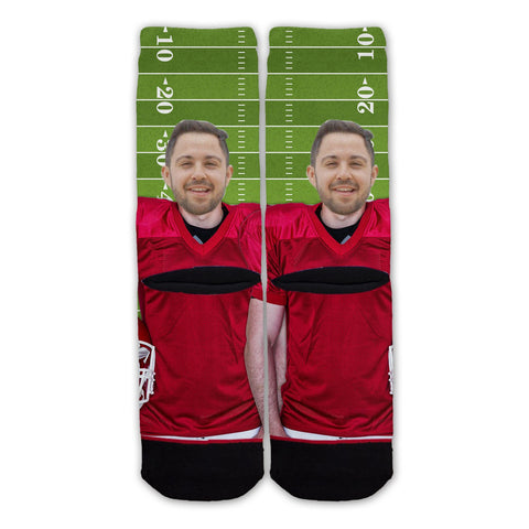 Custom Football Player Fashion Sock