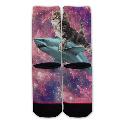 Function - Galaxy Cat Riding Shark Fashion Socks