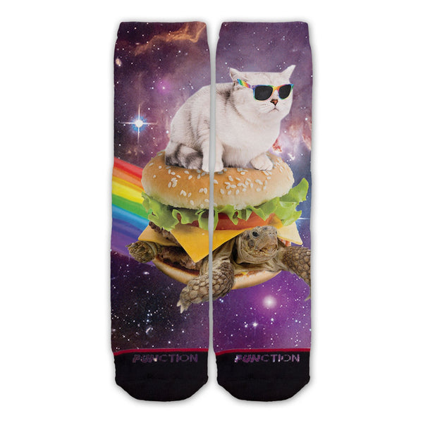 Function - Galaxy Cat Surfing Burger Turtle Fashion Socks
