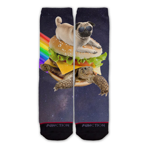 Function - Galaxy Pug Surfing Turtle Burger Fashion Socks