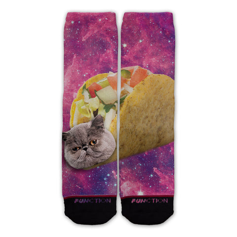 Function - Galaxy Taco Cat Fashion Socks