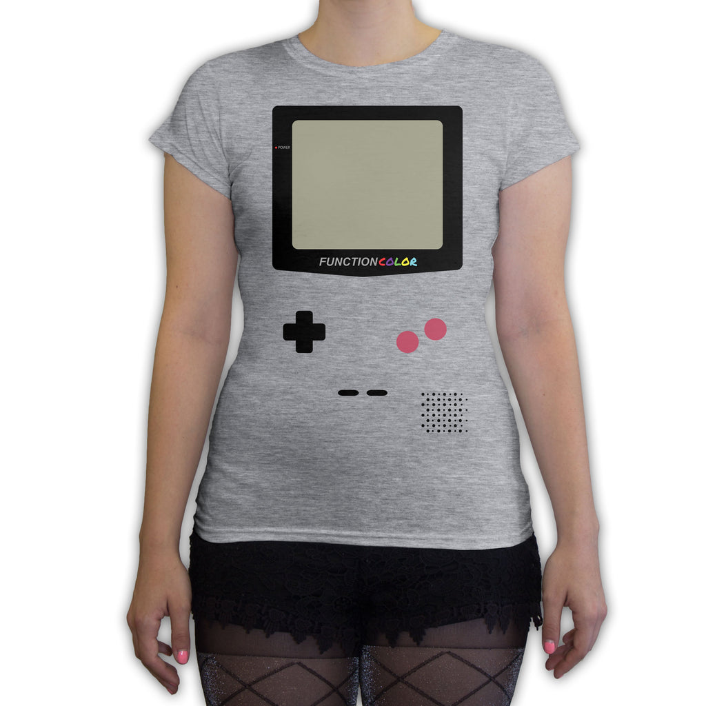 Function -  Game Console Halloween Costume Women's Fashion T-Shirt Heather Grey