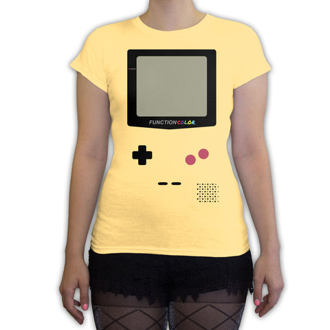 Function -  Game Console Halloween Costume Women's Fashion T-Shirt Yellow