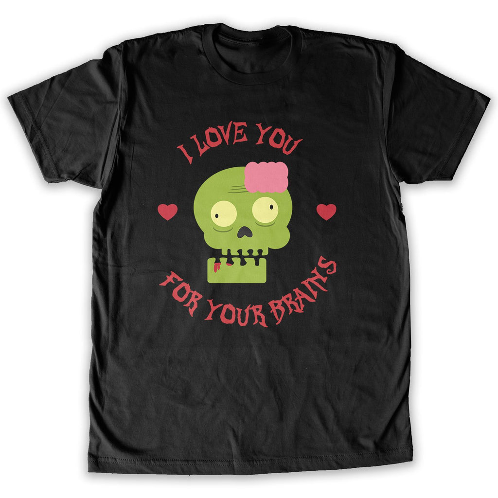 Function -  Valentine's Day Love You For Your Brains Men's Fashion T-Shirt Black