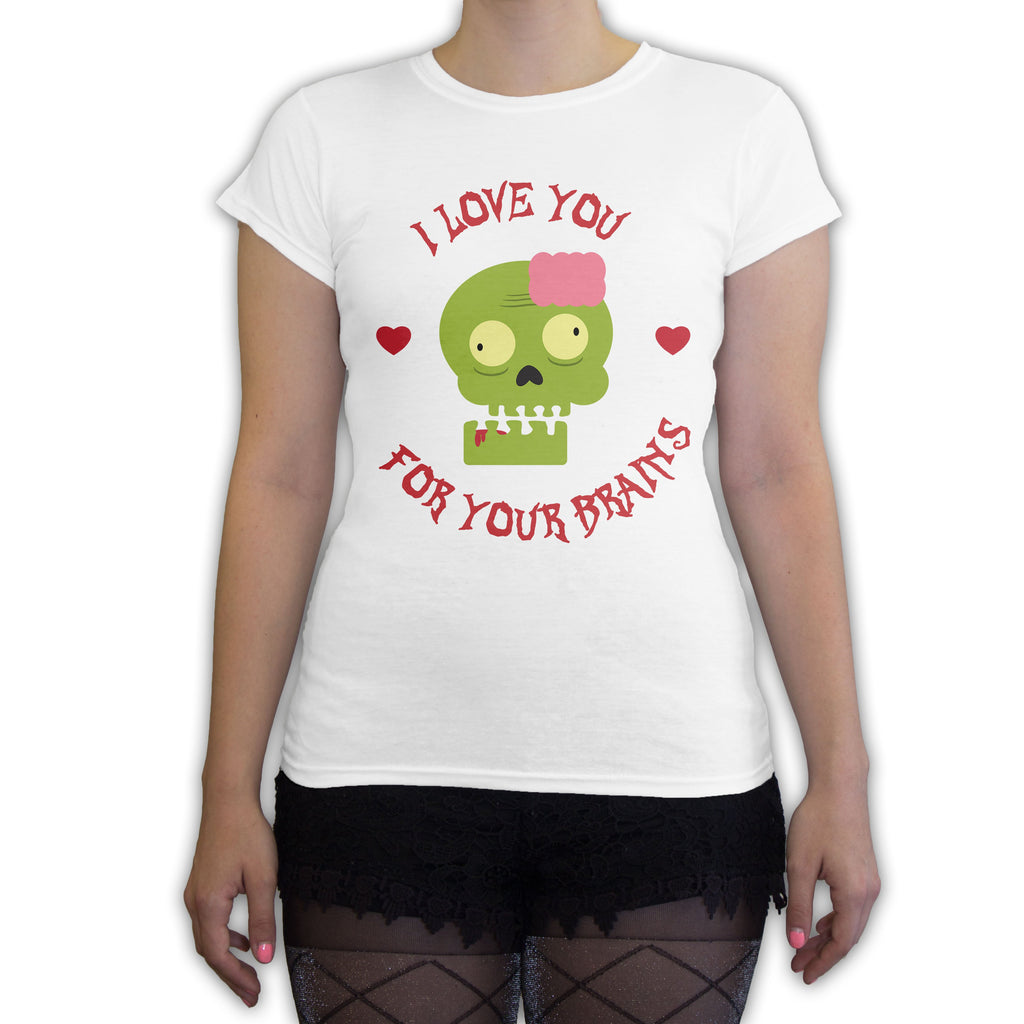 Function -  Valentine's Day Love You For Your Brains Women's Fashion T-Shirt White