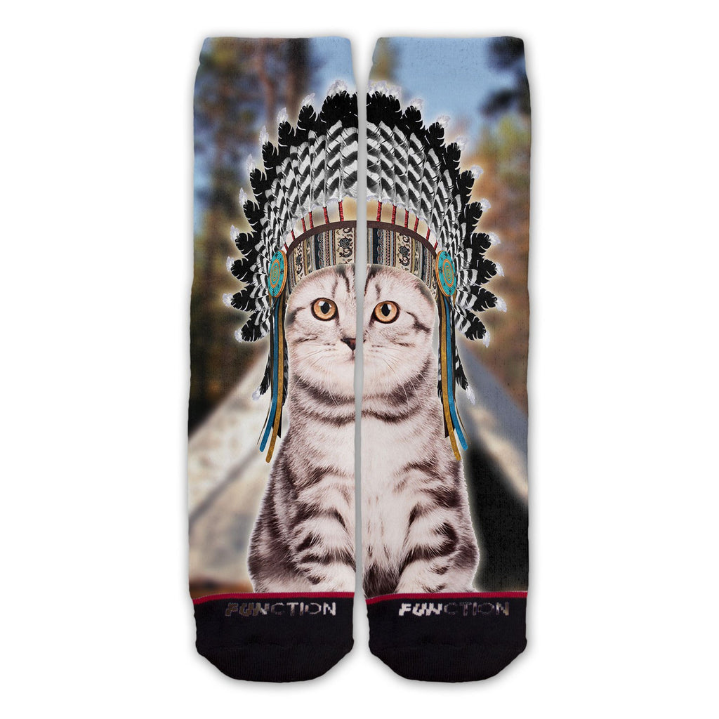Function - Indian Cat Fashion Sock