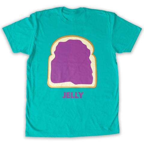 Function -  Couples Jelly Costume Men's Fashion T-Shirt Teal