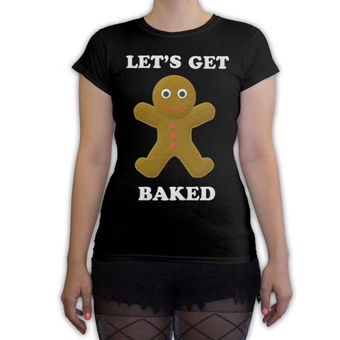 Function -  Let's Get Baked Ugly Christmas Women's Fashion T-Shirt