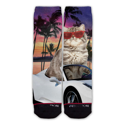 Function - Miami Cat Fashion Socks