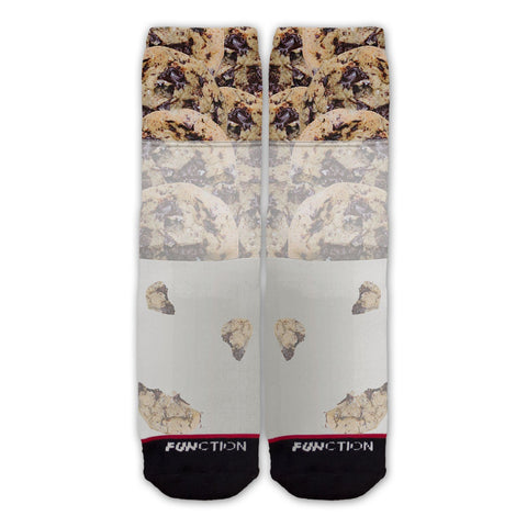 Function - Milk and Chocolate Chip Cookies Fashion Sock