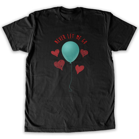 Function -  Valentine's Day Never Let Me Go Balloon Men's Fashion T-Shirt Black