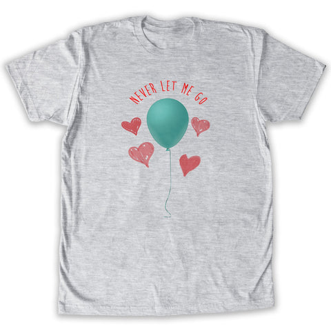 Function -  Valentine's Day Never Let Me Go Balloon Men's Fashion T-Shirt Heather Grey
