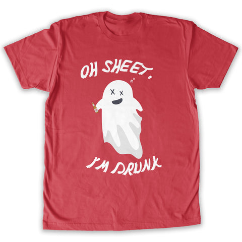 Function -  Oh Sheet I'm Drunk Men's Fashion T-Shirt Red