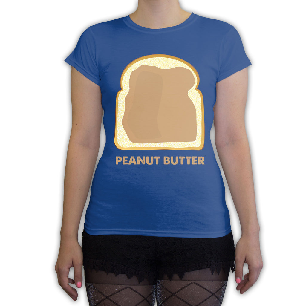 Function -  Couples Halloween Peanut Butter Costume Women's Fashion T-Shirt Royal Blue