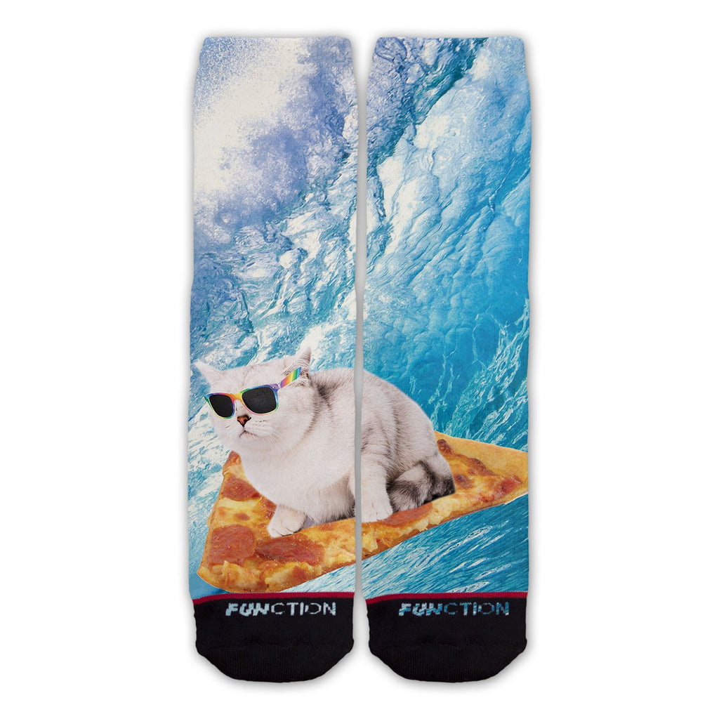 Function - Pizza Surfing Cat Fashion Sock