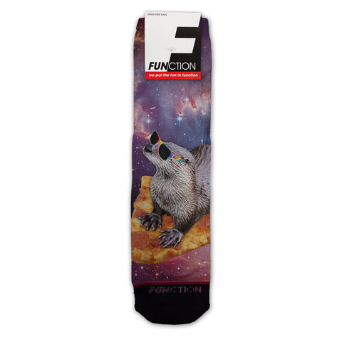 Function - Pizza Surfing Otter Galaxy Fashion Socks