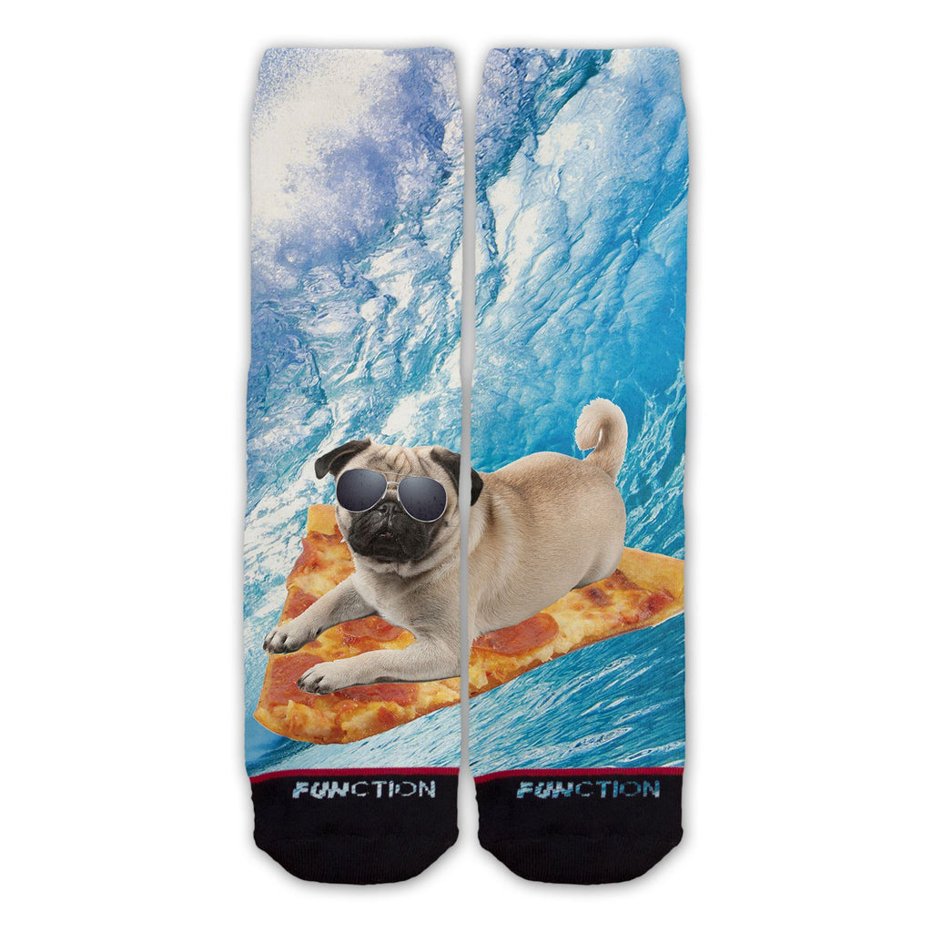 Function - Pizza Surfing Pug Sock