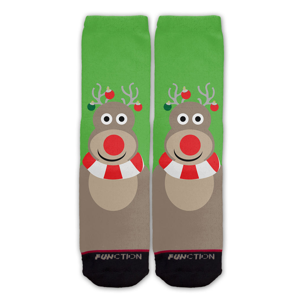 Function - Reindeer Faces Fashion Socks
