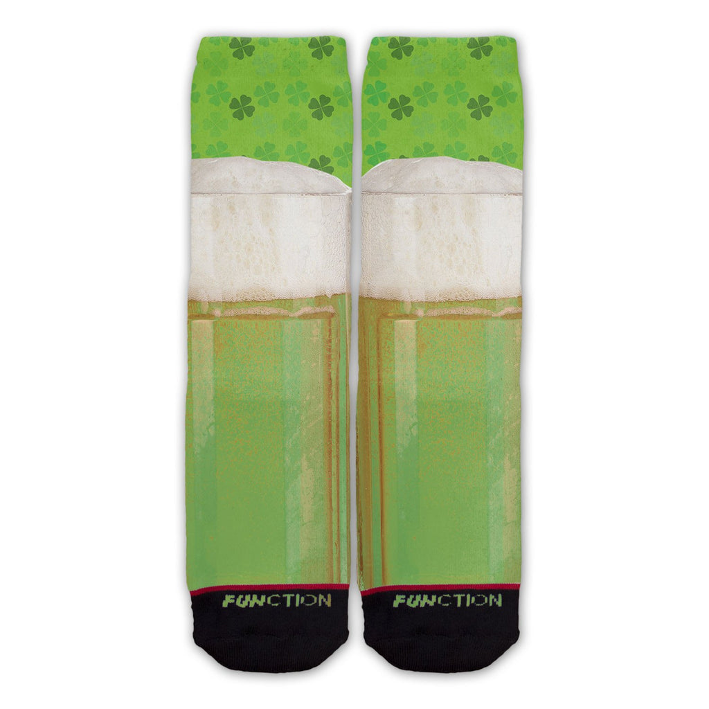 St. Patrick's Day Green Beer Fashion Socks