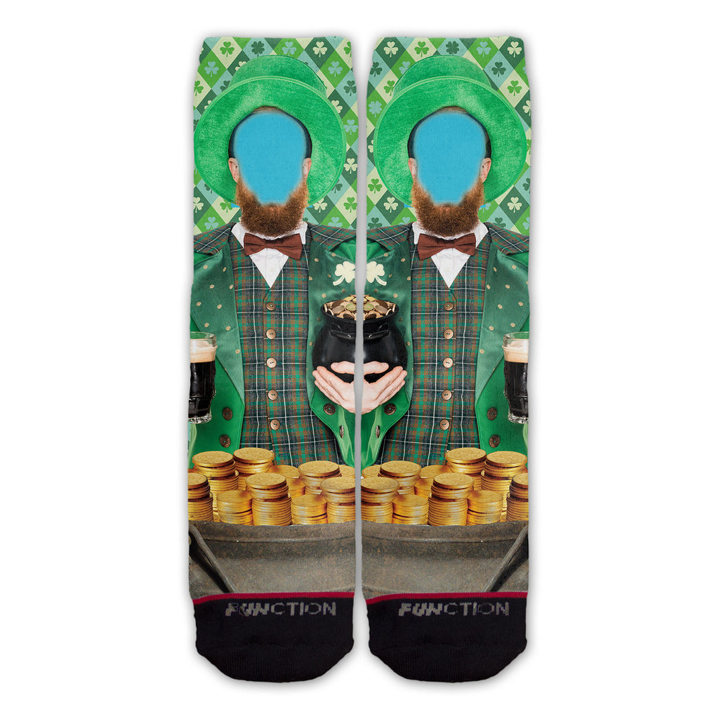 Custom St. Patrick's Day Leprechaun Fashion Sock