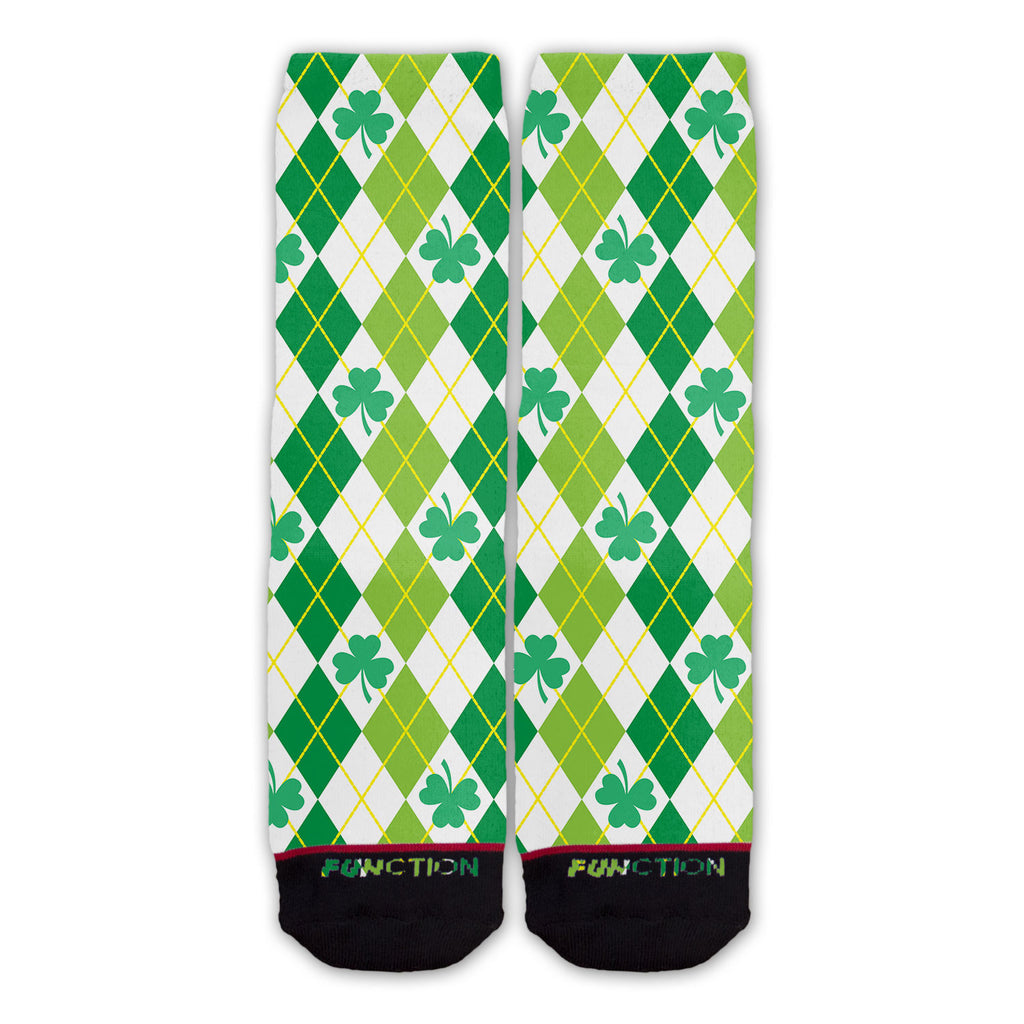 Function - St. Patricks Day Shamrock Argyle Fashion Socks