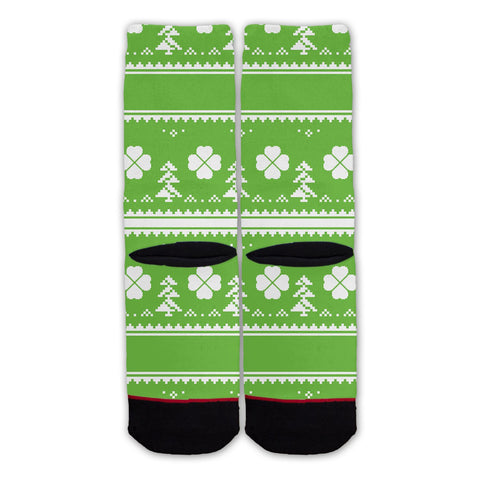 Function - St. Patrick's Day Ugly 8 Bit Fashion Socks
