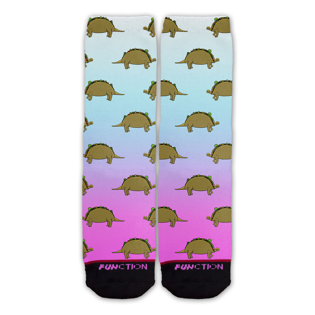 Function - Tacosaurus Gradient Fashion Sock