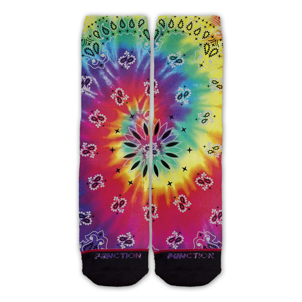 Function - Tie Dye Bandana Fashion Socks