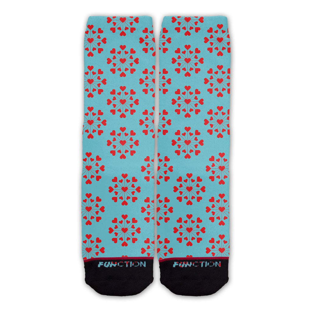 Function - Valentine's Day Blue Heart Pattern Fashion Socks