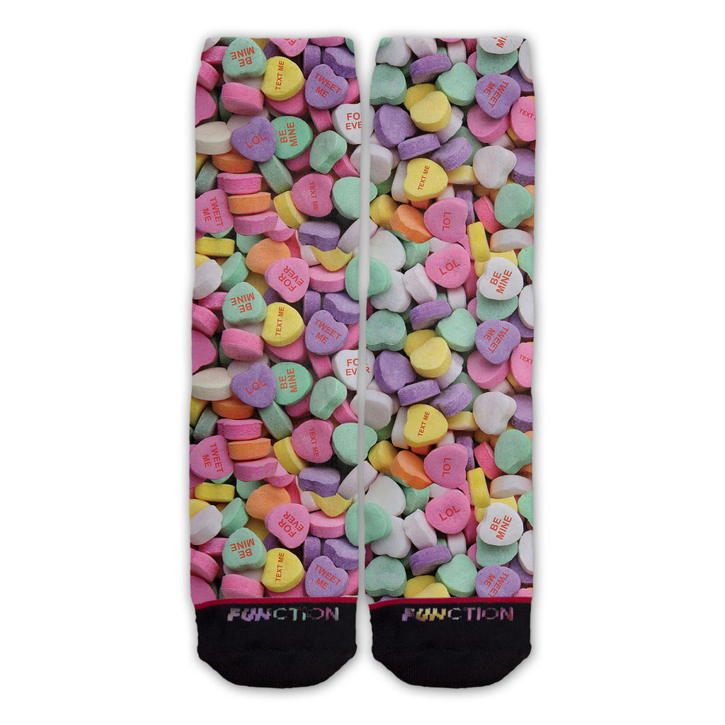 Function - Valentine's Day Candy Hearts Fashion Sock