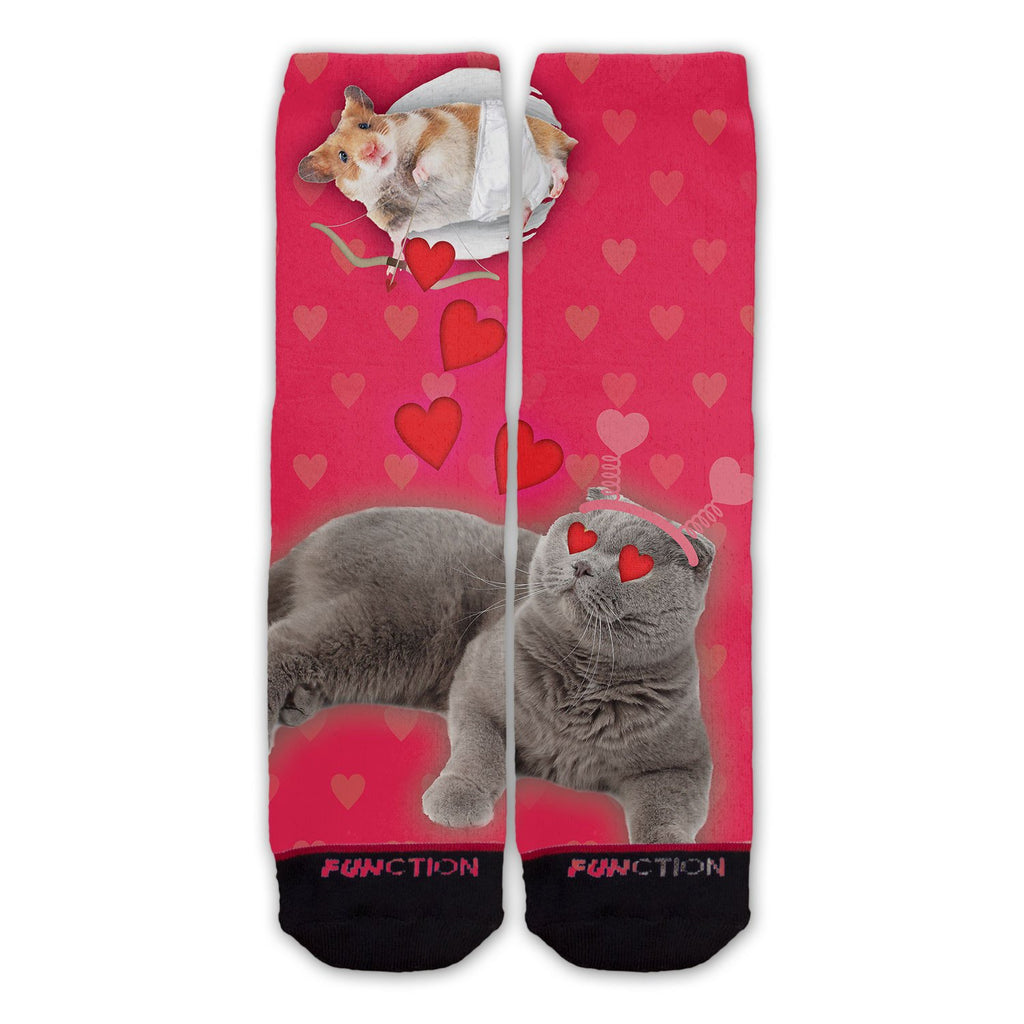 Function - Valentine's Day Cat Cupid Fashion Socks