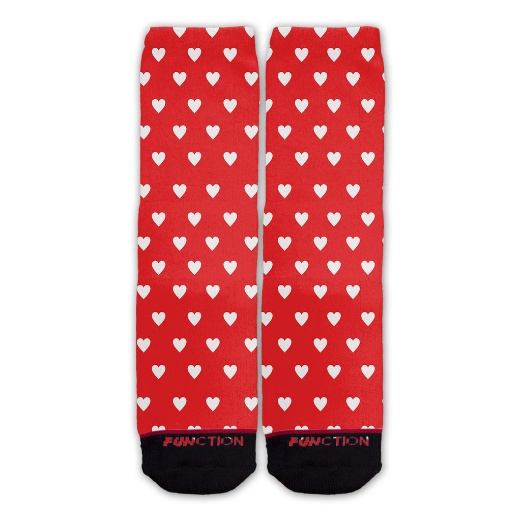Function - Valentine's Day Repeating Hearts Pattern Fashion Socks