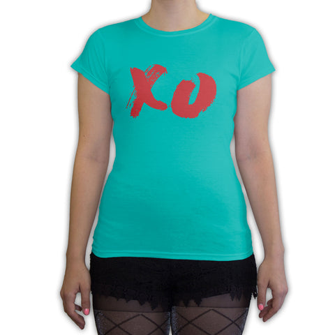 Function -  Vintage XO Women's Fashion T-Shirt Teal