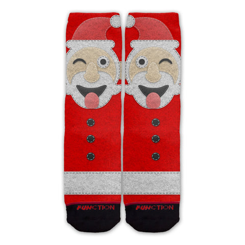 Function - Ugly Christmas Winking Santa Fashion Sock