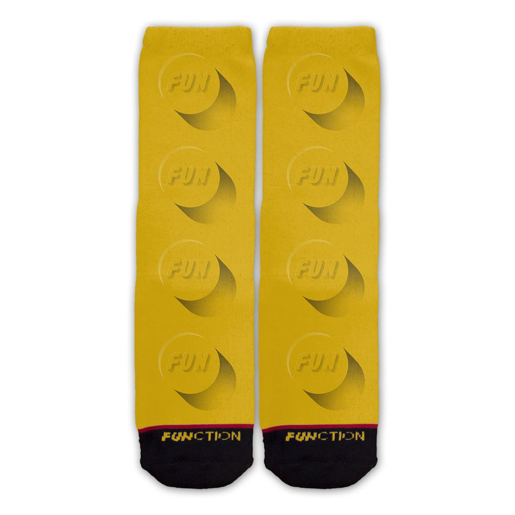 Function - Brick Toy Piece Yellow Fashion Socks