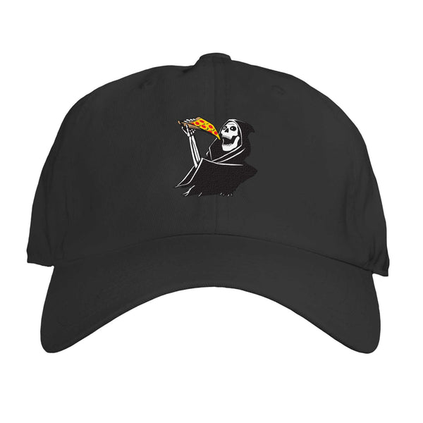 Function - Grim Reaper Eating Pizza Embroidered Dad Hat