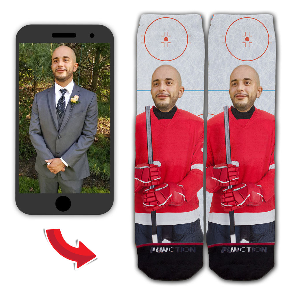 Custom Hockey Player Fashion Sock