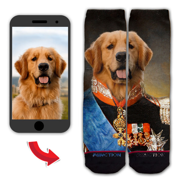 Function - Custom French King Duke Dog Cat Pet Animal Face Fashion Socks