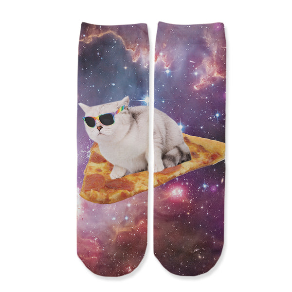 Function - Kids Pizza Galaxy Cat Surfing Space Pepperoni Youth Boys Girls Children Fashion Socks