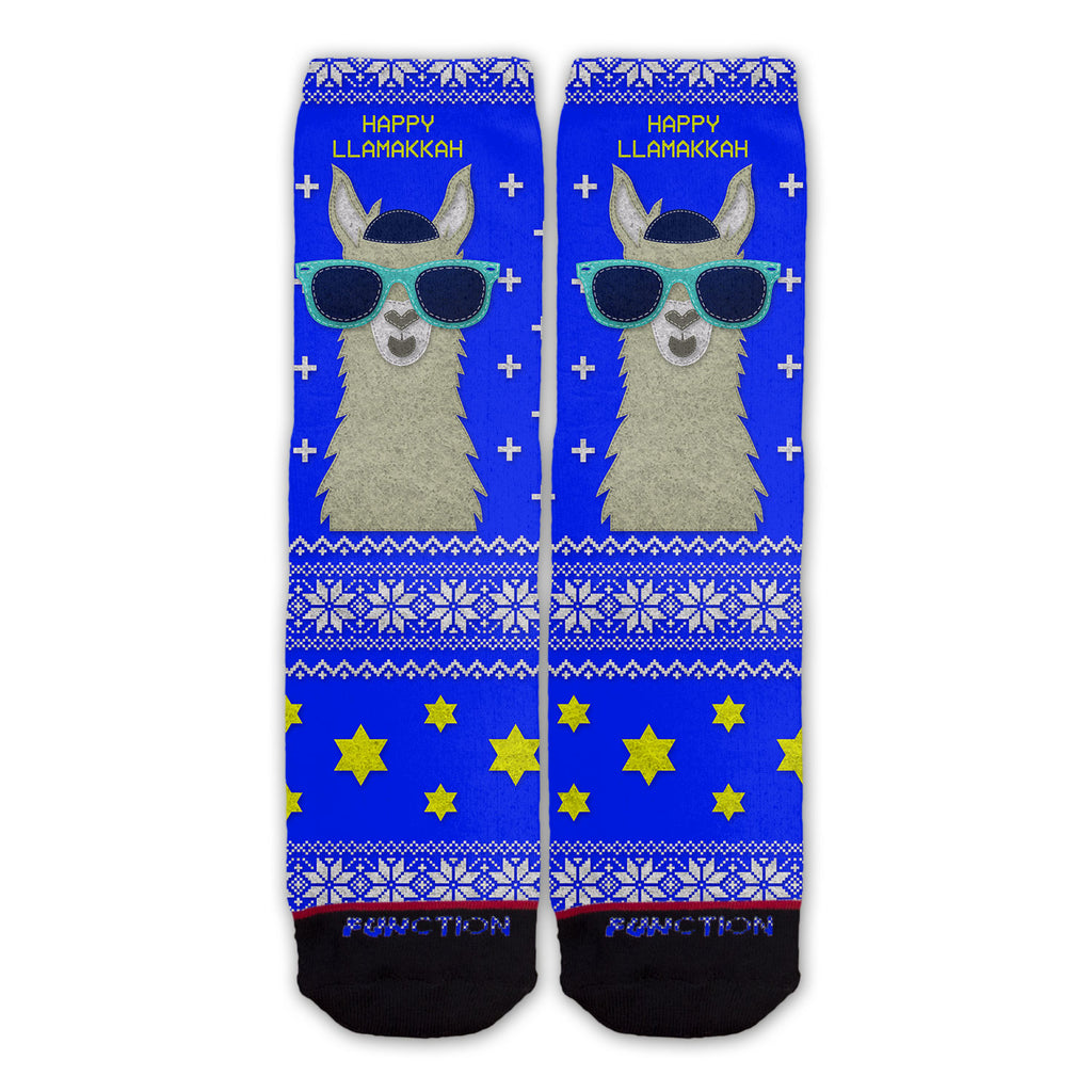 Funtion - Ugly Christmas Hanukkah Llamakkah Holiday Novelty Fashion Socks