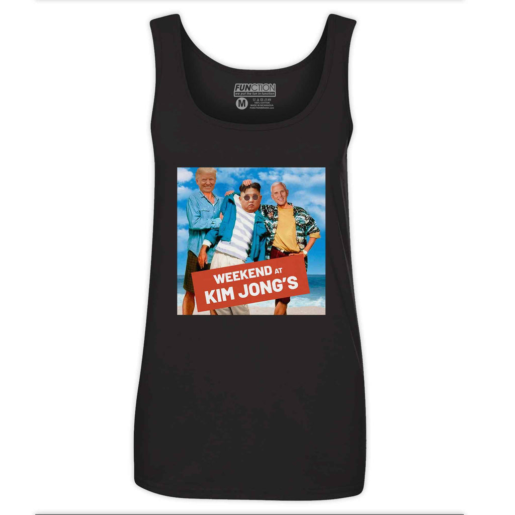 Function - Weekend at Kim Jong Un's Donald Trump Mike Pence Funny Novelty Gag Women's Tank Top
