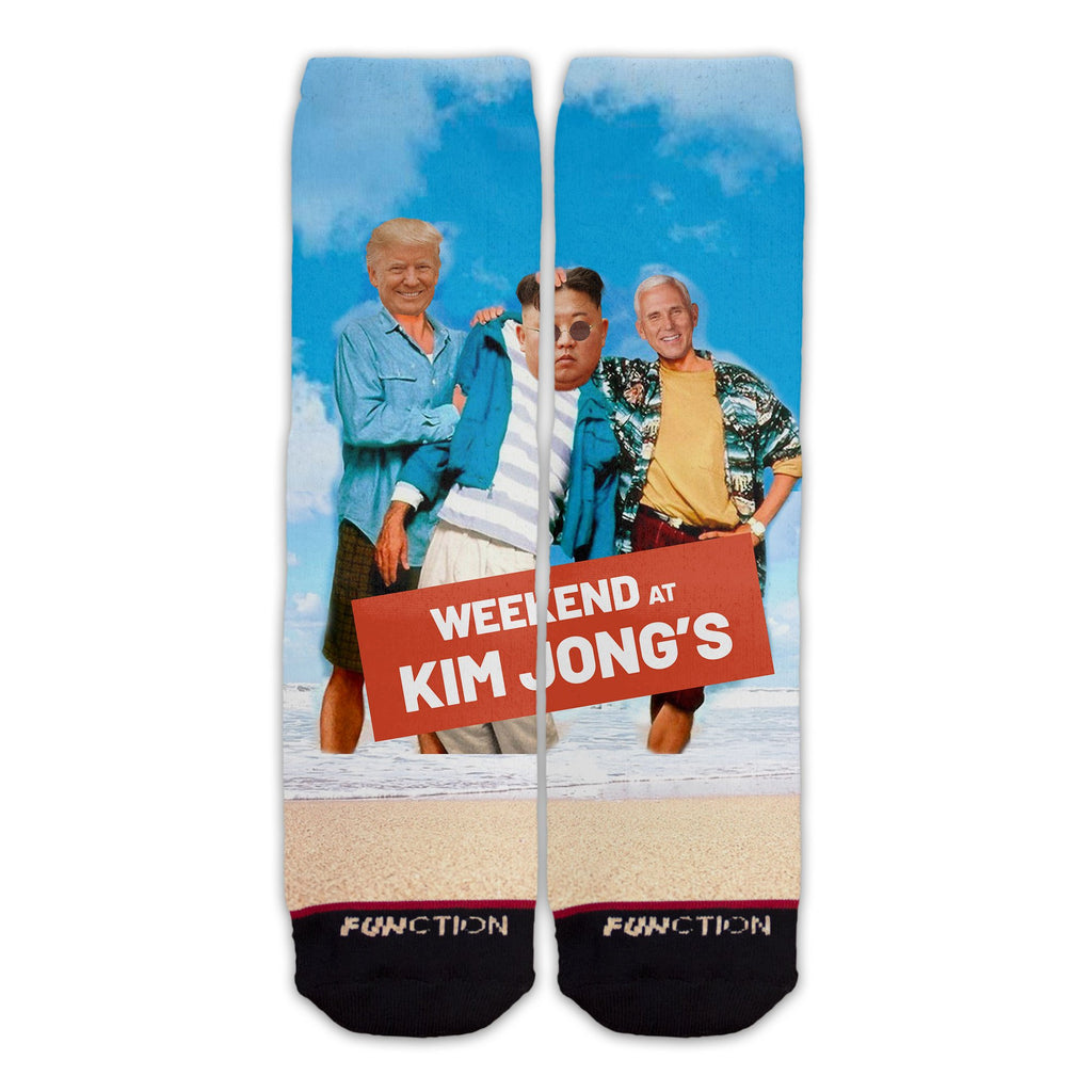 Function - Weekend at Kim Jong Un's Donald Trump Mike Pence Funny Novelty Gag Socks