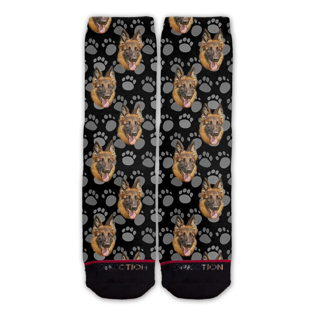 Function - German Shepherd Dog Face Fashion Socks Pattern
