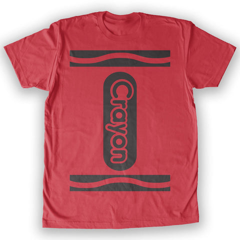 Function -  Crayon Costume Men's Fashion T-Shirt Red