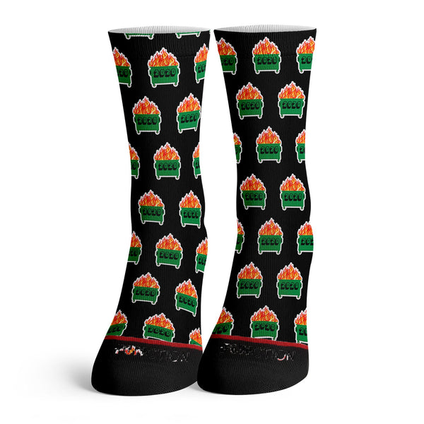 Function - 2020 Dumpster Fire Black Pattern Socks
