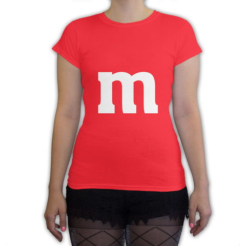 Function -  M Candy Costume  Women's Fashion T-Shirt Red