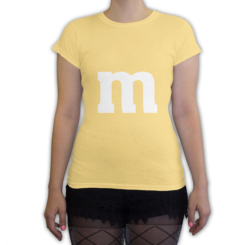 Function -  M Candy Costume  Women's Fashion T-Shirt Yellow