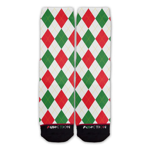 Function - Christmas Argyle Fashion Socks