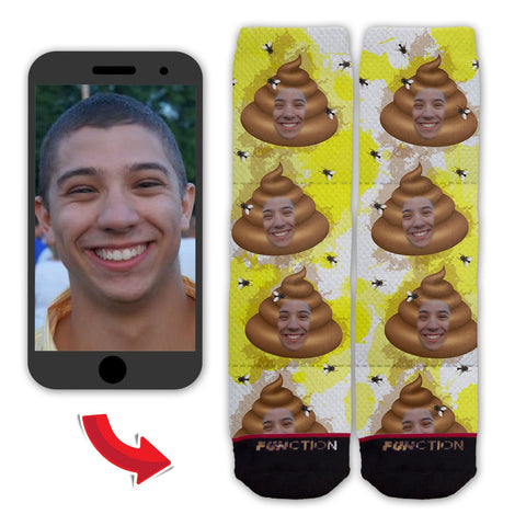 Function - Custom Face Poop Emoji and Toilet Paper Fashion Socks
