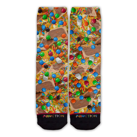 Function - Elf Spaghetti Dessert Food Fashion Socks